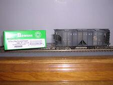 BOWSER #55660  C.& O. for Progress ACF 70 Ton 2-Bay Cov. Hopper Car #1346 Weath.