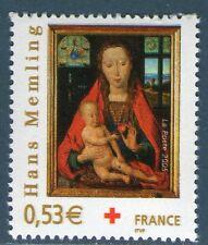 TIMBRE 3840 NEUF XX LUXE - CROIX ROUGE - VIERGE A L' ENFANT DE HANS MEMLING