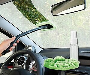 Mikrofaser-Scheibenreiniger Auto Windschutzscheiben Wunder 39 cm mit Ersatztuch