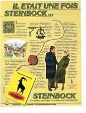 PUBLICITE ADVERTISING   1982    STEINBOCK   loden autrichien du TYROL