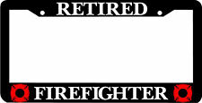 RETIRED FIREFIGHTER FIREMAN  License Plate Frame