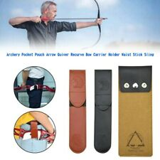 New listing NEW Archery Pocket Pouch Arrow Quiver Recurve Bow Carrier Holder Stick Sling YU