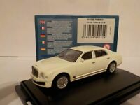 Model Cars. Bentley Mulsanne, white, Oxford Diecast 1/76 New