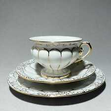 Meissen X-Form - Kaffeegedeck, Kaffeetasse, Kuchenteller Untertasse#B654