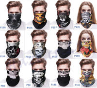 Multi use Bandana Tube Scarf Snood Biker Balaclava Cycling Neck Gaiter Mask Cool