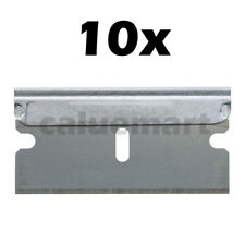 10 PACK Razor Scraper Blades Single Edge Box Cutter Knife Paint Glass Straight
