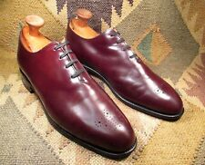SANDERS Wholecut Medallion Toe Oxfords SIZE 9.5 D Made in England