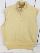 CARNOUSTIE Mens 12 Oaks Lined Golf Sweater Vest 1/4 Zip Size M Medium