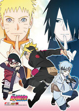 Boruto Group Naruto and Sasuke Wall Scroll Poster Anime Manga NEW