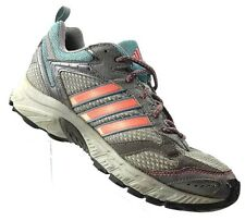 promo code 90b21 4d96a Adidas Grey Pink Aqua Road Trail Track Running Traxion Lace Up Shoes  Women s 9
