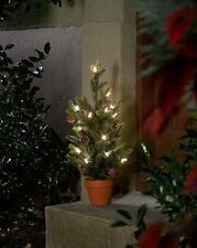Konstsmide LED Baum mit Topf und Zapfen Dekoration Outdoor 60cm 20 LEds