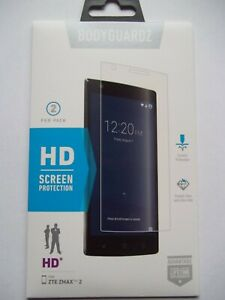 BodyGuardz 2 Pk HD Screen Protector for ZTE ZMAX 2