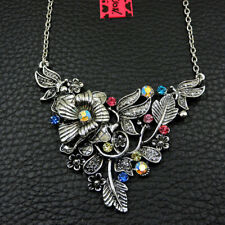 Betsey Johnson Colorful Shiny Crystal Cute Flower Women Sweater Chain Necklace