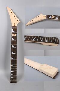 Maple Guitar Neck 22fret 25.5inch Jackson Style Shark Fin Inlay Reversed Head