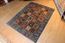 7' X 5' GARDEN DESIGN FINE QUALITY HANDMADE HAND KNOTTED COLORFUL blue-rug
