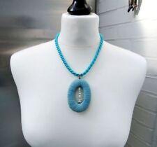 Collares y colgantes de joyería azul colgantes Aguamarina