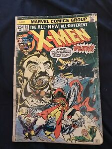 X-MEN #94 (1975) KEY ISSUE: 2nd New Team, 3rd Wolverine - Low Grade but complete