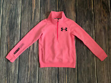 Girls Under Armour Cold Gear Loose Fit Pink Sweat Shirt Pullover Sz Medium NICE