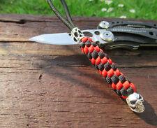 Taschenmesser Ziehhilfe aus Paracord Lanyard  Skull Anhänger Schlüsselanhänger