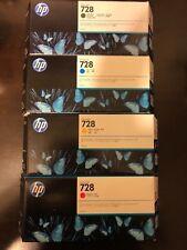 2018 hp 728 ink cartridge lot Full Set  300ml new genuine retail 700 dls