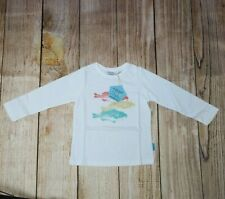KIM KAT L/S Shirt ~ Girls Size 3 ~ Long Sleeve w Fish Print ~ New ~ MBC