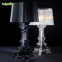Modern Bourgie Bedroom Beside Table Lamp Study Desk Light Lighting Clear Fixture