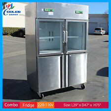 "47"" Half Door Dual Temperature Freezer Refrigerator commercial combination New"