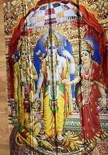 RAM DARBAR Digital Print Curtain Drape Fabric Panel PHOTO BACKDROP/WALL HANGING