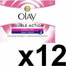 12x Olay Double Action Moisturiser Normal Dry Skin Night Cream Classic Care 50ml