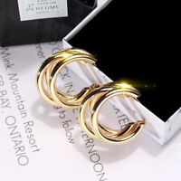 Geometric C Shaped Gold Earrings Stud Hoop Dangle Drop Statement Fashion Women