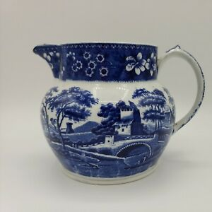 Copeland Spode's Tower Blue Pitcher or Jug, made in England