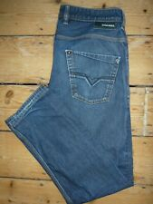 DIESEL INDUSTRY Jeans Mens Blue Krooley Classic Fit W32 L32 RRP £85 [216]
