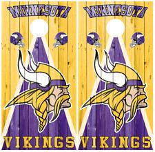 Minnesota Vikings Wood Cornhole Board Wraps Decal Sticker