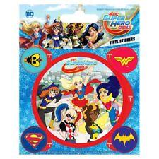 Offiziell Lizenziert Dc Superheld Mädchen Charaktere Vinyl Aufkleber Set mit 5
