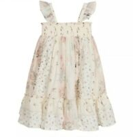 Bonpoint Ivory And Pink Patchwork Dress Size 8