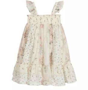 Bonpoint Ivory And Pink Patchwork Dress Size 10