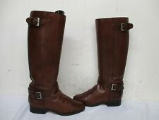 59f07bf43517 Enzo Angiolini Hansel Brown Leather Riding Boots Womens Size 5 M
