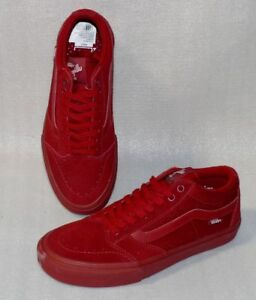 Vans TNT SG Rau Up Leder Herren Schuhe Freizeit Sneaker 42 US9 Red Dahlia IC181