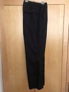 FootJoy DryJoys Men's Large Poly/Polyurethane Wind/Rain Golf Pants Black EUC