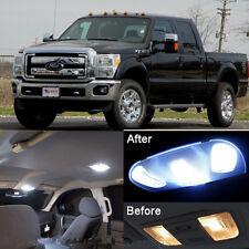White LED Lights Interior Package Kit For Ford F250 F350 2011-2015 ( 9 Pcs )
