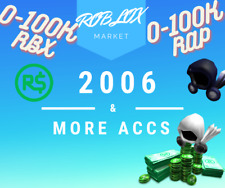 ULTRA RARE 2006 - 2021 Roblox Account with RARE NAME *0 TO 100K ROBUX AND RAP*