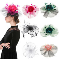Fascinator Hat  Hair Clip Lady's Day Feather Ascot RaceWedding Party Accessories