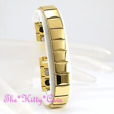 Strong Magnetic Tungsten Carbide CTS RSI Arthritis Energy 24K Gold Fill Bracelet