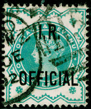 SgO17, ½d blue-green, FINE used, CDS. Cat £12.
