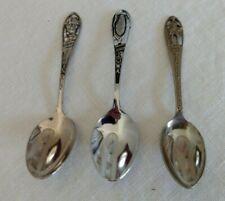 3 State Souvenir Spoons - Illinois, Iowa & New York