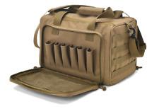 Tactical Gun Range Bag Deluxe Pistol Shooting Range Duffle Bags Tan