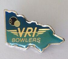 Victoria Railway Institute Bowling Club Badge Rare Vintage Train (M11)