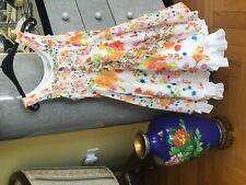 Jottum Big Girls Floral  Summer Fully Lined Dutch Dress Silvy Sz US 7-8/122