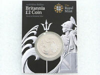 2008 Royal Mint Britannia Bullion £2 Two Pound Silver 1oz Coin Mint Card
