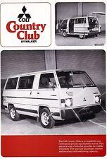 Mitsubishi Colt country club walker autobús folleto Sheet 1980 UK +++++++++++++++++